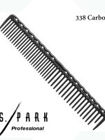 YS PARK 338 LONG AND ROUND TOOTH QUICK CUTTING GRIP COMB - CARBON