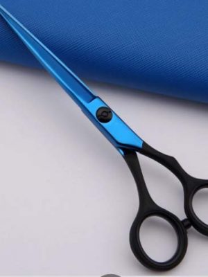 Blue Titanium Hairdressing Barber Scissor Set